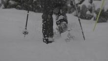Guy Walking In The Snow
