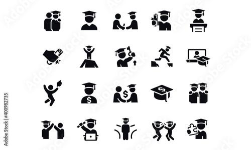 Fotografie, Obraz Graduates Icons vector design