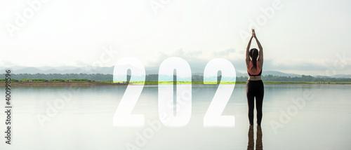 Happy new year start up 2021 Fototapet