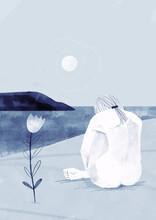 Femme à La Mer