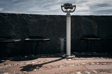 Two Eyes - The Lookout Point At Sweden's Southernmost Cape, Where You Look Out Over The Baltic Sea With Binoculars
