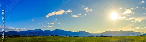 Fototapeta landscape near Sindelsdorf in Germany obraz