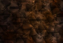 Dark Brown Vector Polygonal Pattern.