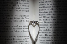The Ring In The Book Casts A Shadow In The Form Of A Heart