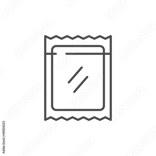 Zip package line outline icon Wallpaper Mural