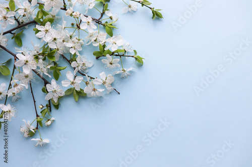 Canvas Print mockup of a spring postcard