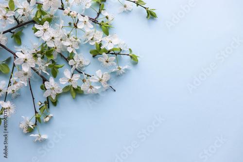 Vászonkép mockup of a spring postcard