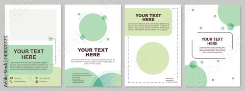 Obraz Minimalistic brochure template - fototapety do salonu