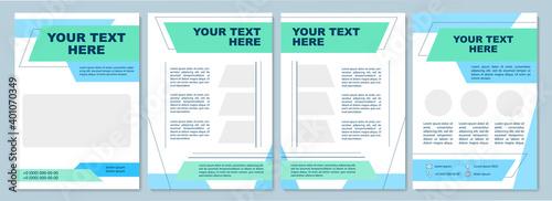 Obraz na plátne Multipurpose brochure template