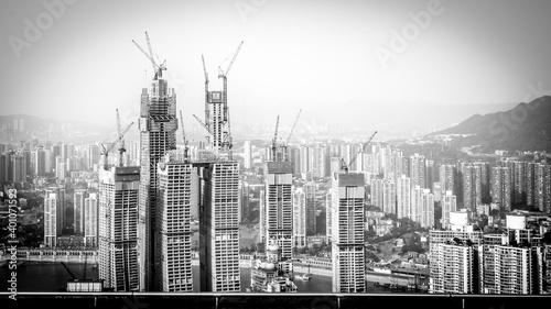 paysage en construction Fototapeta
