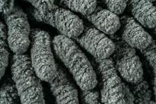 Microfiber Fabric Towel Texture With Soft Large Pile, Macro Photo.