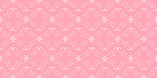 Pink Background Pattern. Decorative Ornament. Seamless Wallpaper Texture. Ideal For Fabrics, Covers, Posters, Wallpapers. Vector Background Image