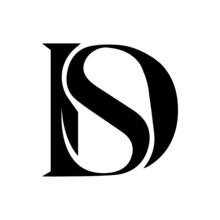 Initial Letter Ds Logo Or Sd Logo Vector Design Template