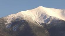 Snow-capped San Francisco Peak In Arizona On A Sunny Day, In USA - Static Medium Shot