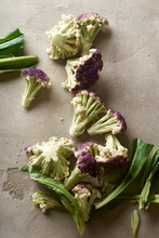 Purple Cauliflower Florets