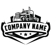 American Truck Logo On White Background