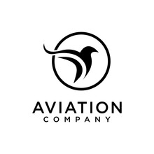 Aviation Or Airplane With Eagle Icon Vector Illustration Design Logo Template