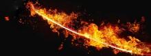 抽象的な炎の剣
