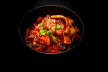Korean Style Spicy Squid With Pork Which Is Called Ohsambulgogi
