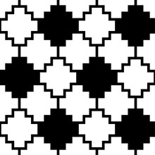 Inca Crosses Seamless Pattern. Ethnic Ornament. Folk Background. Geometric Wallpaper. Cross Shapes Image. Tribal Motif. Ancient Mosaic. Digital Paper, Web Design, Textile Print, Abstract. Vector Work.