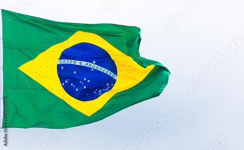 Bandeira do Brasil ao vento Wallpaper Mural