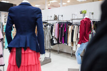 Women's Clothing On The Mannequin In The Store