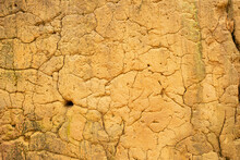 Cracked And Dried Mud Dirt Background Texture In The Desert