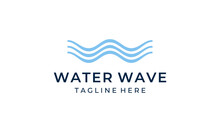 Initial Letter W With Ocean Water Wave Logo Design Template