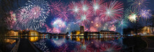 New Year Celebrations On New Years Eve With Fireworks In The Capitals Of The World.