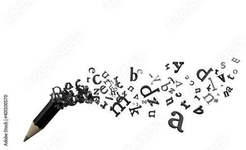 Obraz na plátně Pencil Letters