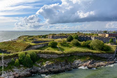 Fotografie, Obraz Bastion walls of Suomenlinna fortress at Kustaanmiekka island