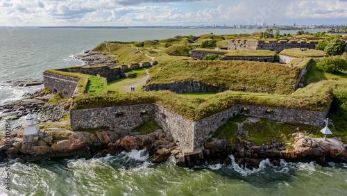 Obraz na plátne Star-shaped bastion walls of Suomenlinna fortress at Kustaanmiekka island