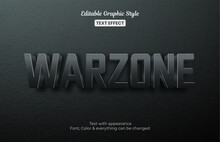 Warzone Battlefield Editable Text Effect