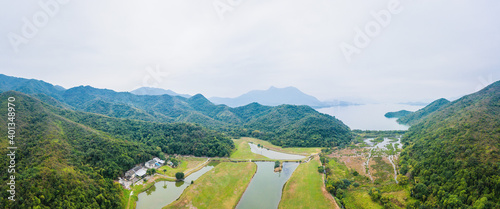 Small village in countryside, Sham Chung, Sai Kung, Hong Kong, Daytime