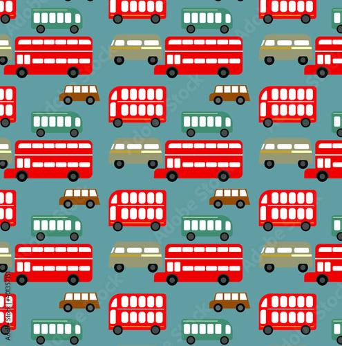 Fotografie, Obraz vector pattern set of buses