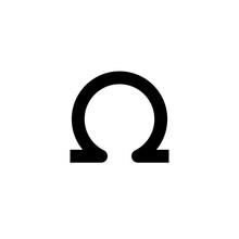 Omega Icon. Vector