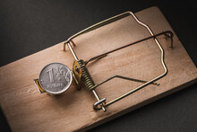 One Russian Ruble In A Mousetrap. Financial Trap Concept
