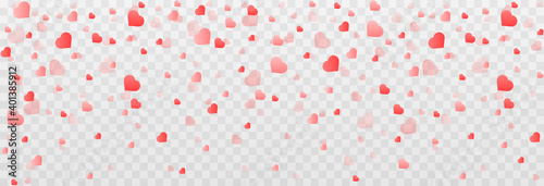 Foto Vector confetti made from hearts