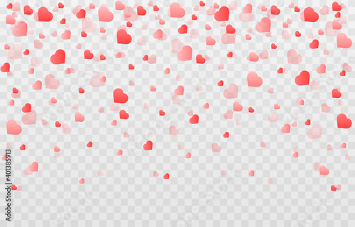 Vector confetti made from hearts Fototapet