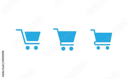 Papel de parede Shop cart icons collection