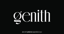 Genith. The Luxury And Elegant Font Glamour Style