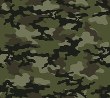 Camouflage Vector Design Classic Khaki Pattern For Printing Clothing, Fabric.