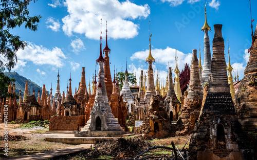 Temples in Burma, Asia Fotobehang
