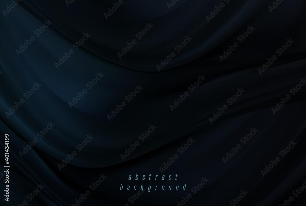 Fototapeta Black satin texture abstract background. Background design
