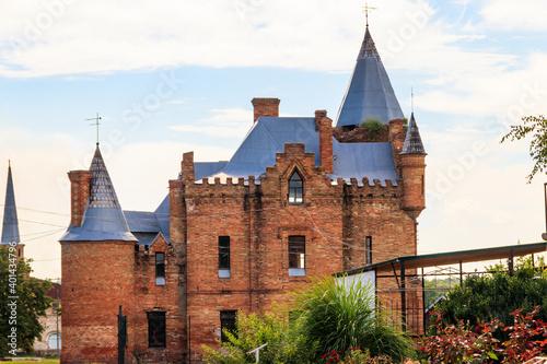 Popov Manor House (also known as Vasylivka Castle) in Vasylivka town, Zaporizhia region, Ukraine