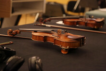 Violin With A Bow Close Up