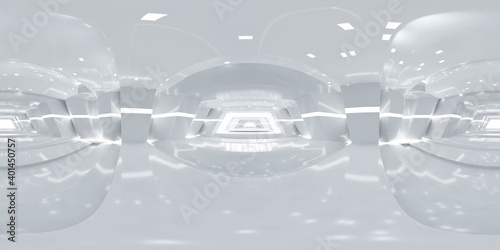 Foto 360 degree panorama of abstract white technology design modern futuristic archit