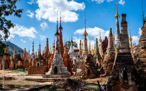 Fototapeta pagodas in myanmar
