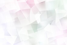 Light Pink, Yellow Vector Gradient Triangles Template.