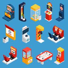 Game Machine Isometric Icons